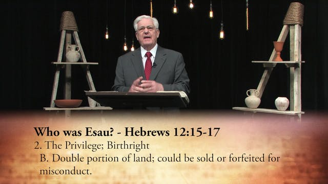 Afterward: An Example In Esau