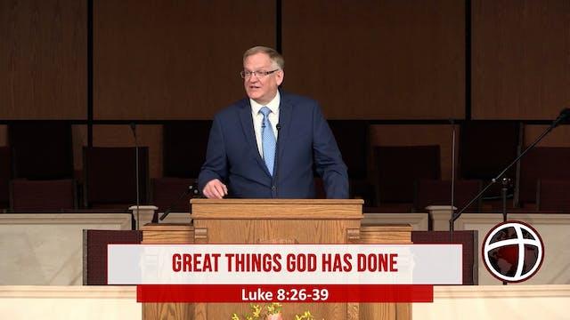 "At Calvary ""Great Things God Has Done"""