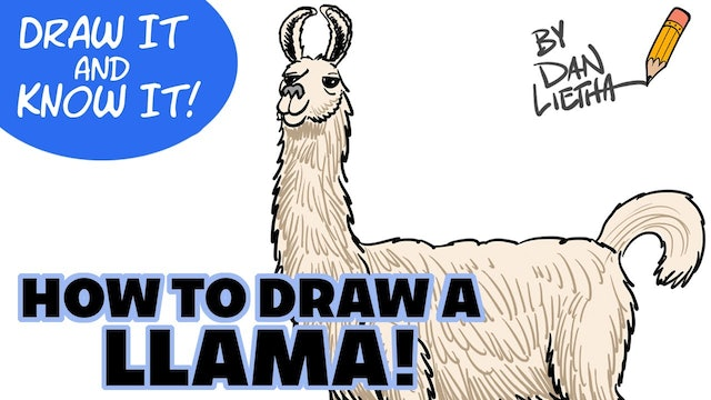 Draw It And Know It - Art Lesson Edition - How To Draw A Llama