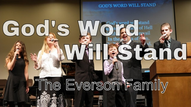 God's Word Will Stand (Family)