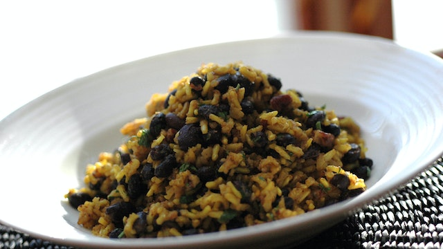 Golden Rice with Beans