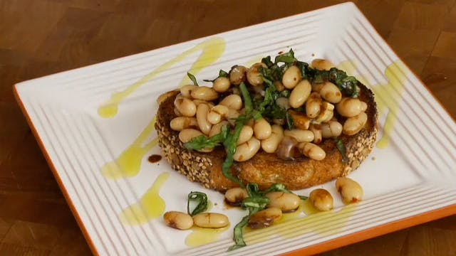White Bean & Basil Bruschetta