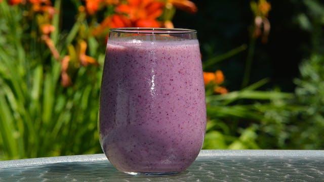 Blueberry Kiwi Smoothie