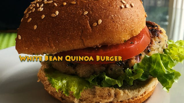 Quinoa White Bean Burger