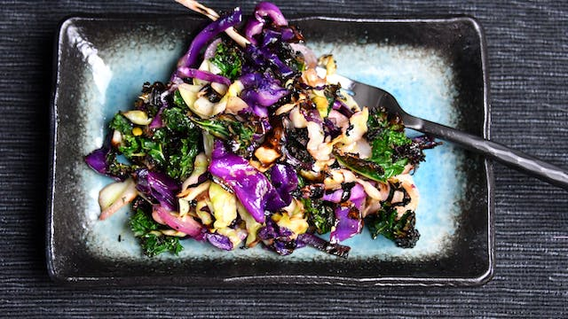 Grilled Red and Green Cabbage Slaw