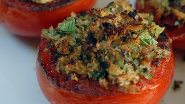 Seared Stuffed Tomatoes