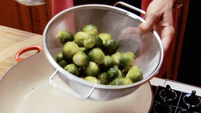 Brusssels Sprouts with Crisp VBacon
