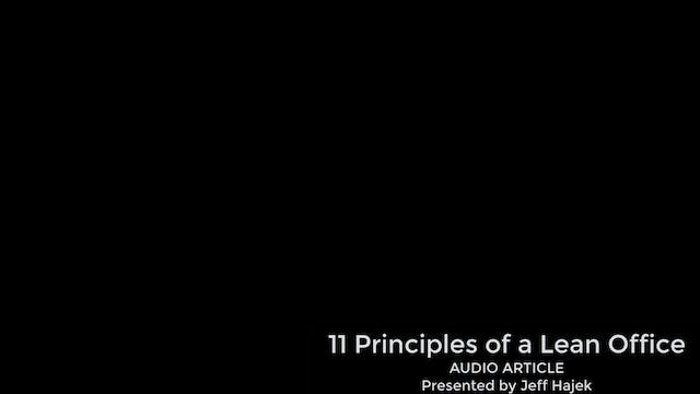 11 Principles of a Lean Office (Audio...