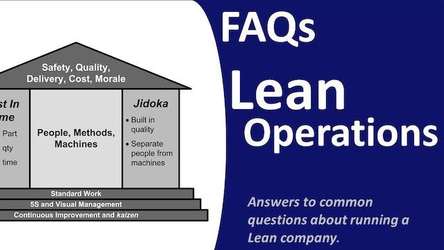 FAQ-Lean Operations