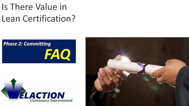 Is there value in Lean certification?