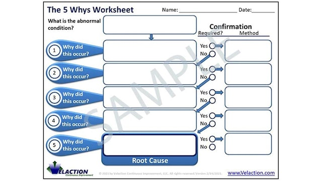 5 Whys Form (Forms & Tools)