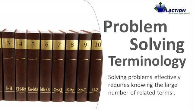 Problem Solving Terminology