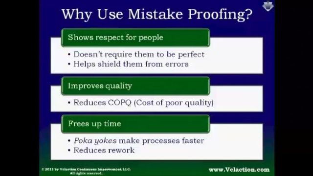 Poka Yoke (Legacy Module - Recorded Webinar)
