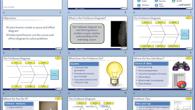 Cause and Effect Diagram Slideshow (Download)