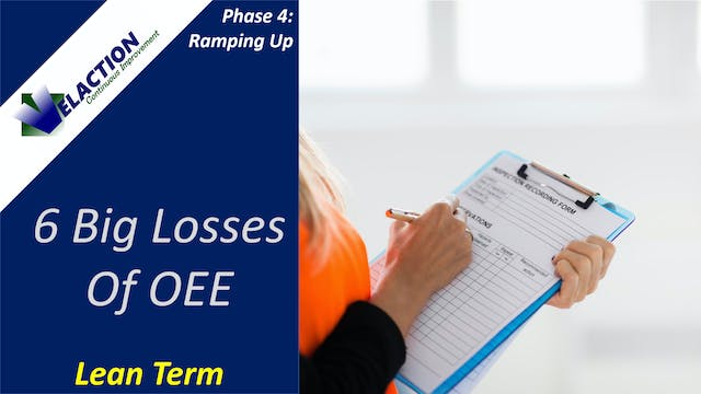 6 Big Losses of OEE (Video Term)