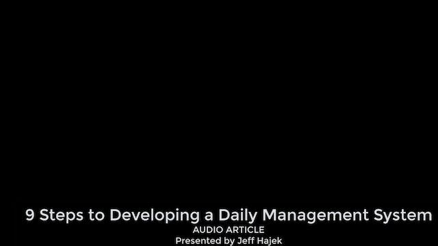 9 Steps to Developing a Daily Managem...