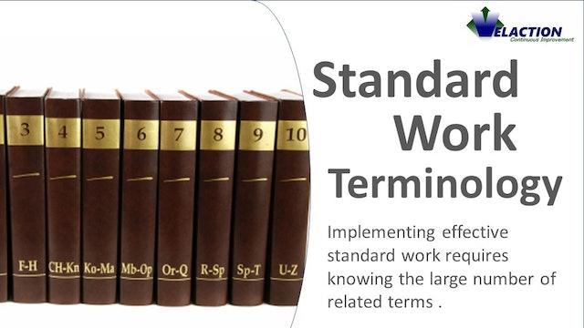 Standard Work Terminology