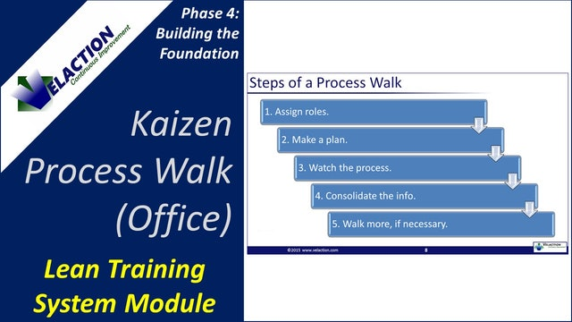 Kaizen Process Walk-Office Version (Training Module Video)