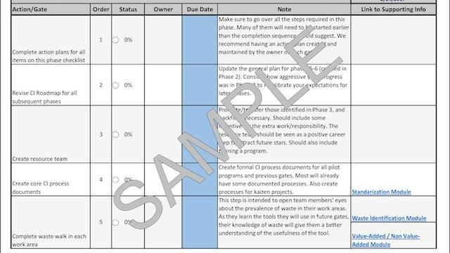 Phase 4 CI Development System Checklist (PDF Version)