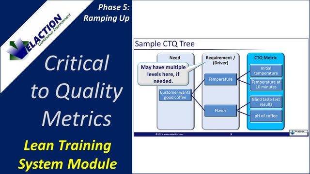 Critical to Quality Metrics (Training Module Video)