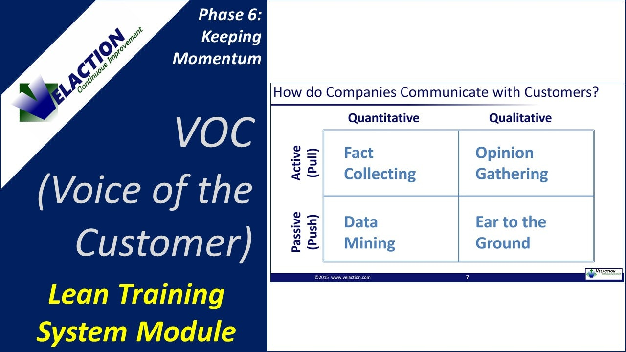 Voice of the Customer / VOC Overview (Training Module Video)