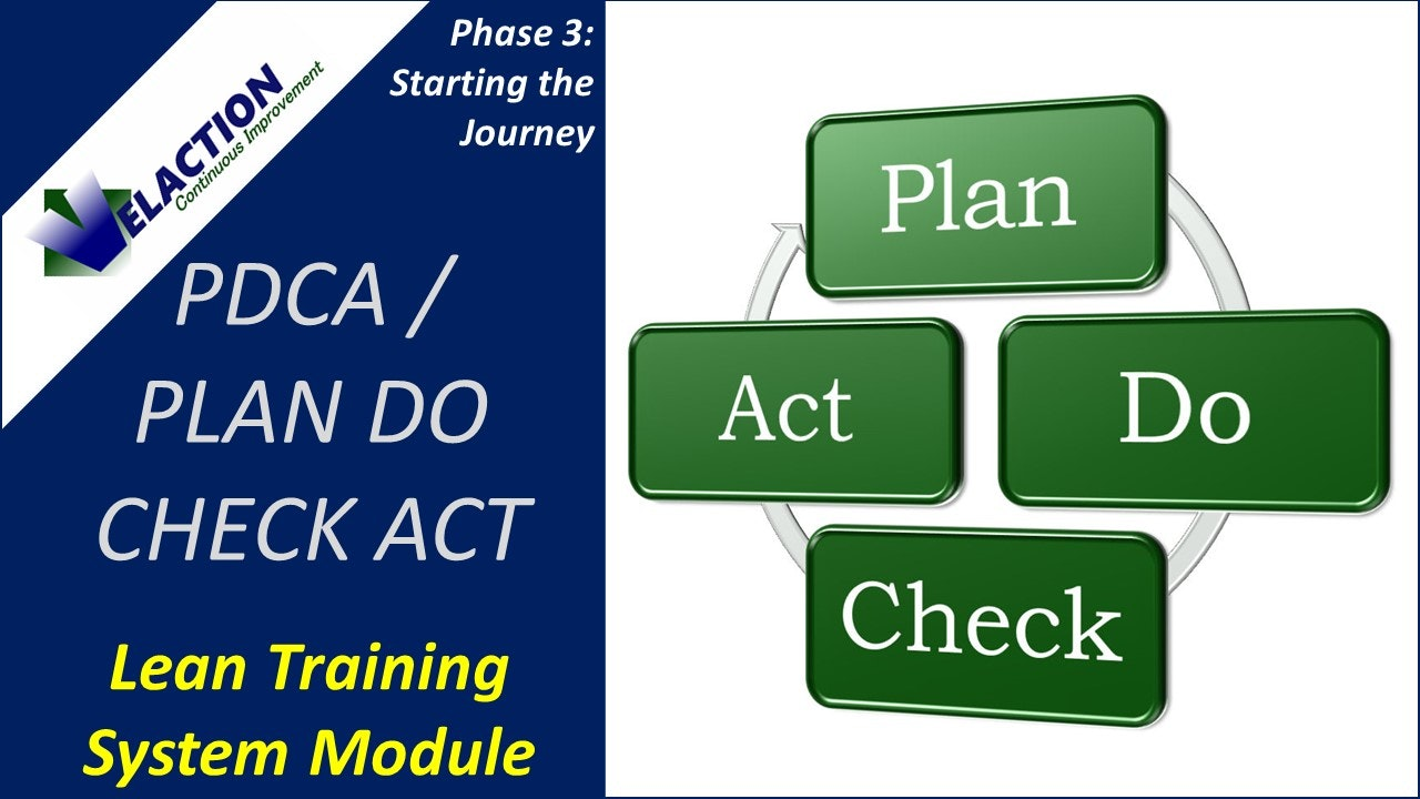 PDCA / Plan Do Check Act Overview (Training Module Video)
