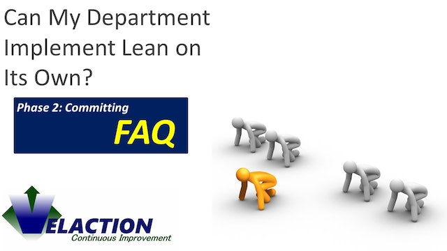 Can a single department implement Lean on its own?
