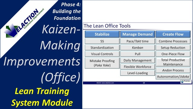 Kaizen Making Improvements-Office Version (Training Module Video)