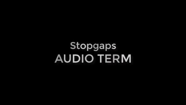 Stopgaps (AUDIO TERM)
