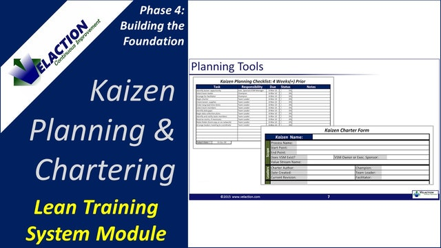Kaizen Planning and Chartering (Training Module Video)