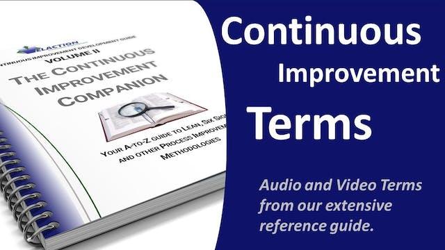 Continuous Improvement Terms