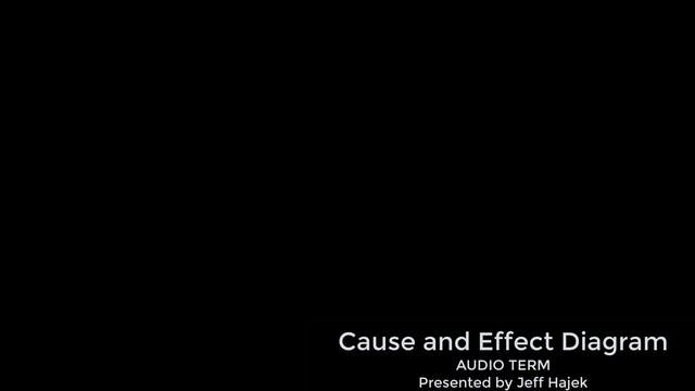 Cause and Effect Diagram (Audio Term)