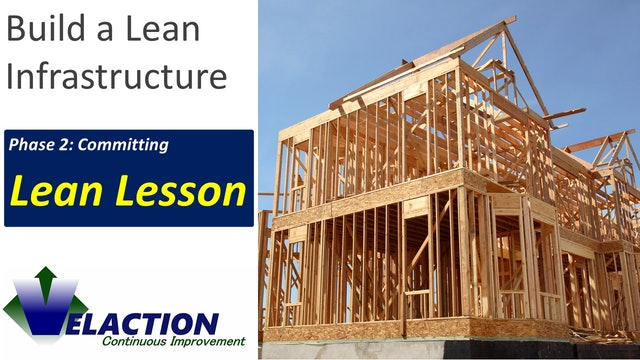 Build a Lean Infrastructure (Lean Lesson)