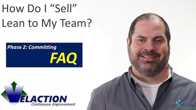 How do I sell Lean to my team?