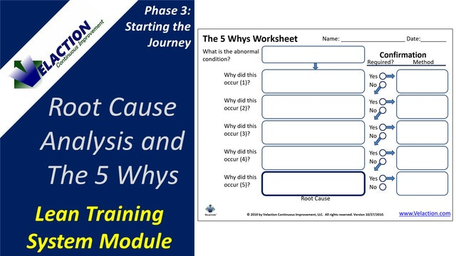 Root Cause Analysis and the 5 Whys (Legacy Module Video)