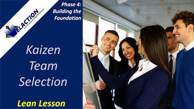 Kaizen Team Selection