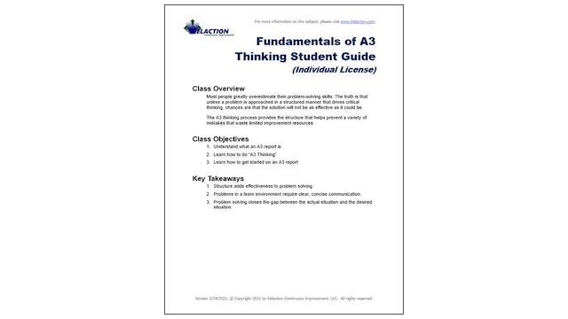 A3 Thinking Fundamentals Student Guide (Individual License)