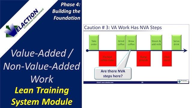 Value Added (VA) / Non-Value Added (NVA) Work
