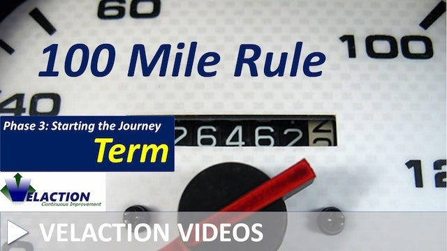 100 Mile Rule (Video Term)