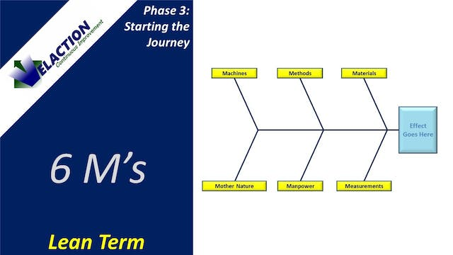 6 M's (Continuous Improvement Term)