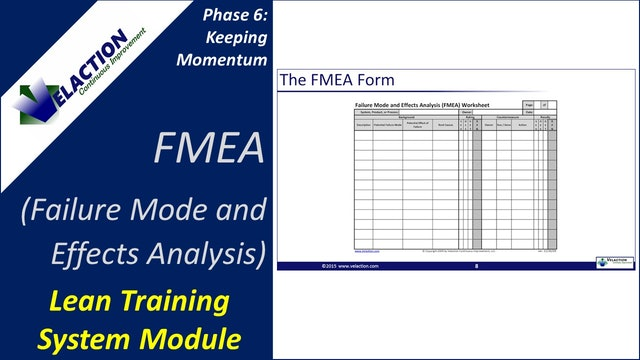 Failure Mode and Effects Analysis / FMEA Overview (Training Module Video)