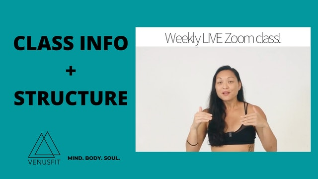 Weekly Live Zoom Class Info About the Class