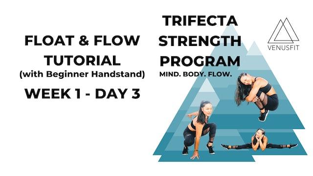 Float & Flow Tutorial (with Beginner Handstand) WEEK 1-DAY 3