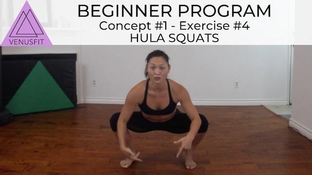 Beginner Program - Concept #1: Exercise #4 Hula Squats