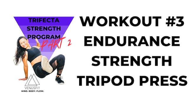 TRIFECTA 2 - Workout #3 - Endurance (TRIPOD PRESS)