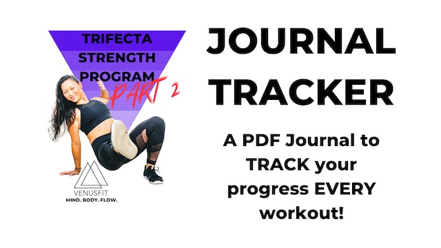TRIFECTA PART 2 - PDF TRACKER - JOURNAL for keeping record of PROGRESS!