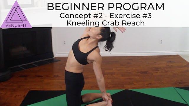 Beginner Program - Concept #2: Exercise #3 - Kneeling Crab Reach