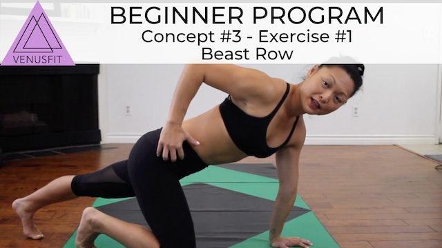 Beginner Program - Concept #3: Exercise #1 - Beast Row