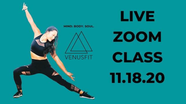 Live Zoom Class - November 18th, 2020