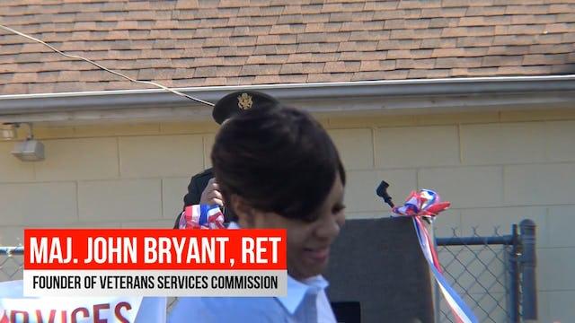 Maj. John Bryant breifs the public on the VSC mission
